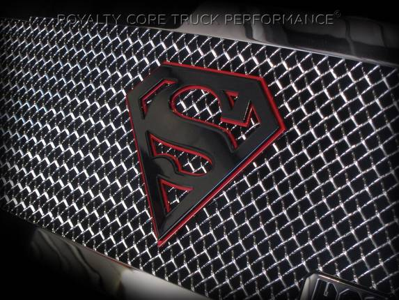 Royalty Core - Superman Gloss Black And Red emblem