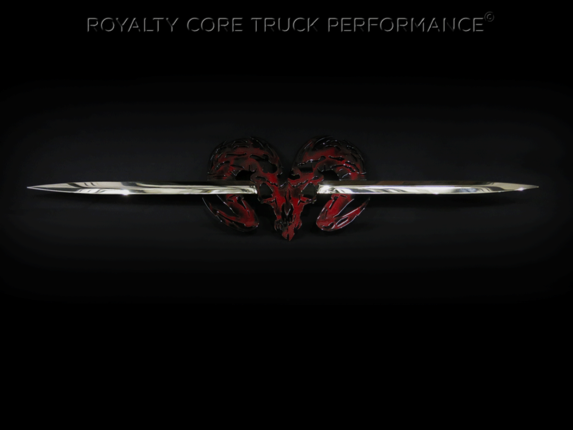 Royalty Core - Speared Ram Skull W/Red Airbrushing