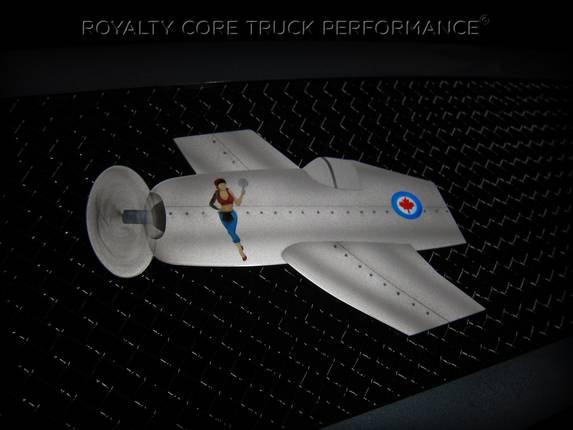 Royalty Core - Airbrushed Airplane Logo