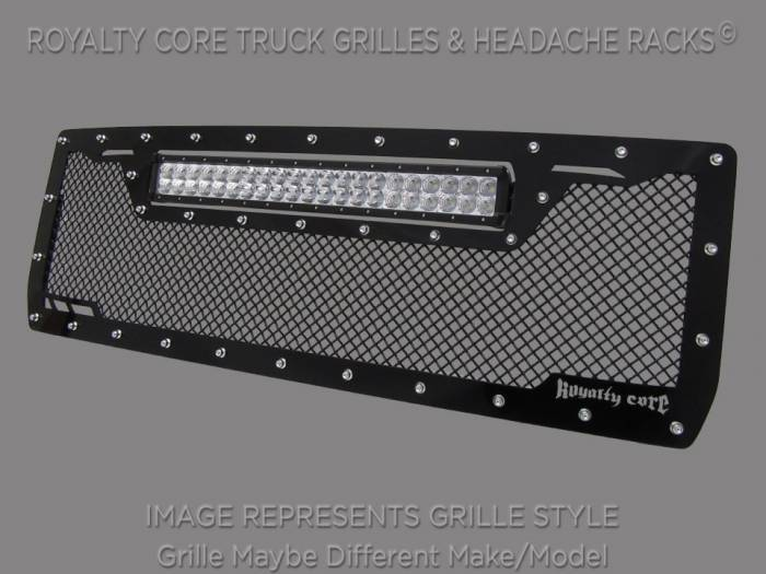 Royalty Core - GMC Sierra HD 2500/3500 2007-2010 RCRX LED Race Line Grille-Top Mount LED