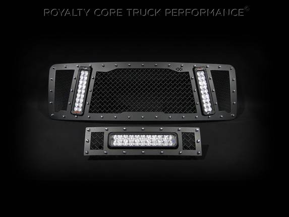 Royalty Core - Ford F-150 2013-2014 RCX Grille in Satin Black with Matching LED Bumper Grille