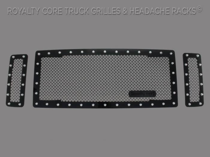 Royalty Core - Ford Super Duty 2008-2010 RC1 Main Grille 3 Piece Satin Black