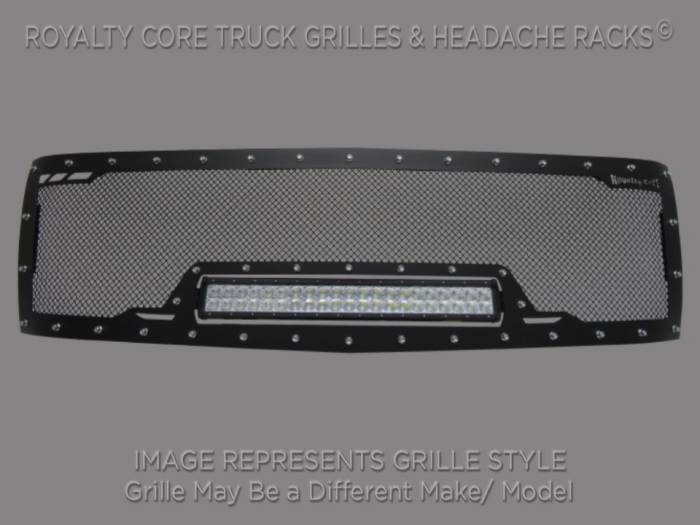 Royalty Core - Chevy 2500/3500 2011-2014 Full Grille Replacement RCRX LED Race Line Grille