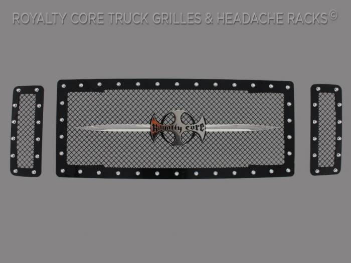 Royalty Core - Ford Super Duty 2008-2010 RC1 Main Grille 3 Piece with Chrome Sword Assembly