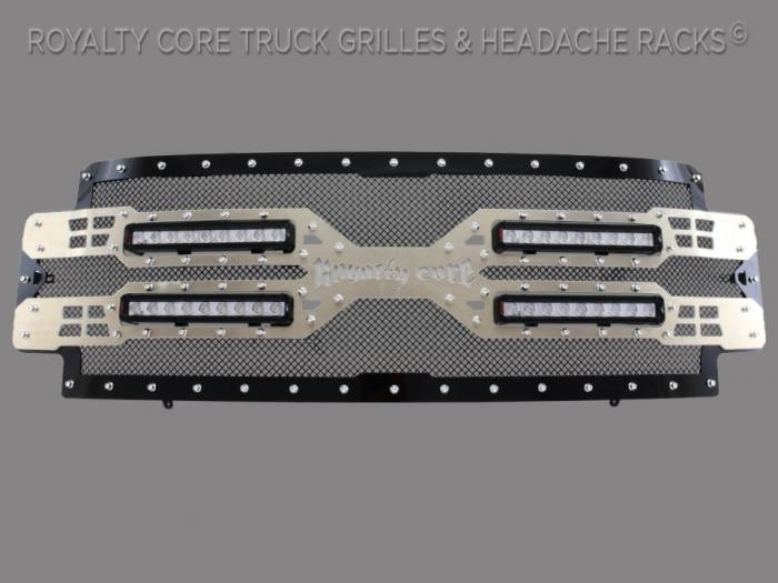 Royalty Core - Ford Super Duty 2017-2019 RC5X Quadrant LED Full Grille Replacement