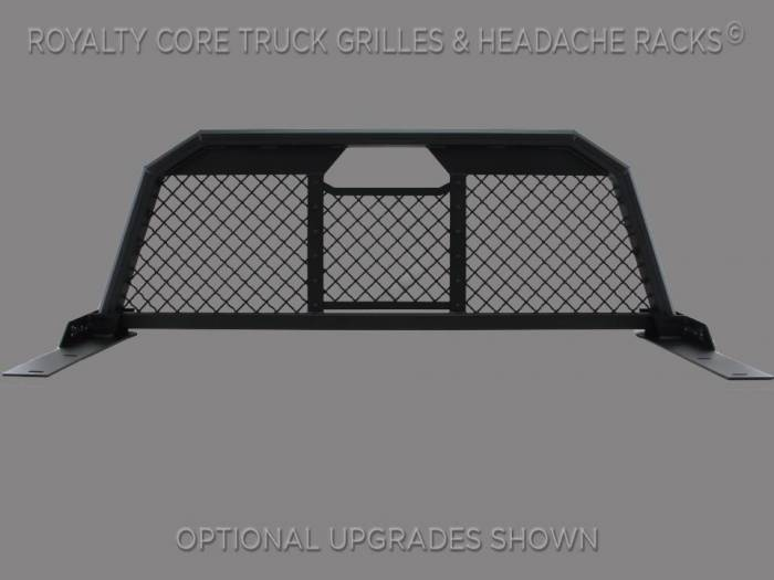 Royalty Core - Chevy/GMC 1500/2500/3500 1999-2007.5 RC88 Billet Headache Rack with Diamond Mesh