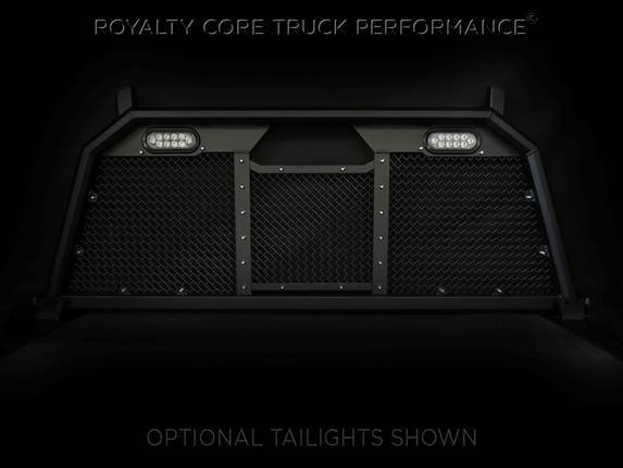 Royalty Core - Ford Superduty F-250 F-350 2017+ RC88 Headache Rack with Diamond Crimp Mesh