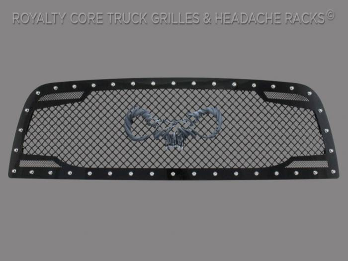 Royalty Core - Dodge Ram 1500 2009-2012 RC2 Main Grille Twin Mesh with Goat Skull Logo