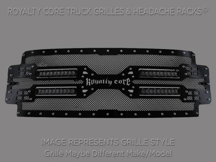 Royalty Core - Royalty Core GMC Yukon HD 2015-2018 RC5X Quadrant LED Grille 100% Stainless Steel Truck Grille