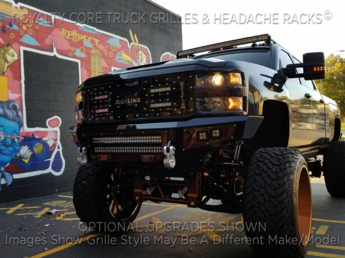 Royalty Core - Royalty Core Chevrolet Silverado Full Grille Replacement 1500 2007-2013 RC5X Quadrant LED Grille