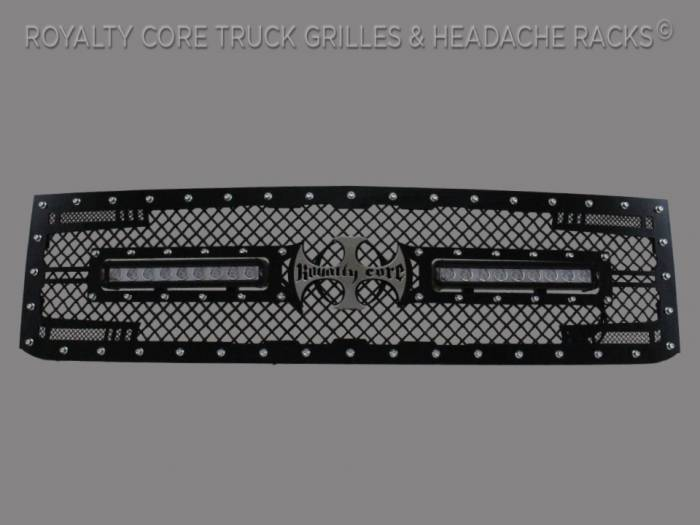 Royalty Core - Chevy 2500/3500 2007-2010 RC2X X-Treme Dual LED Full Replacement Grille