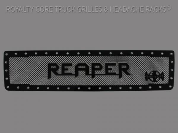 Reaper Lettering Emblem Gloss Black with Chrome Details