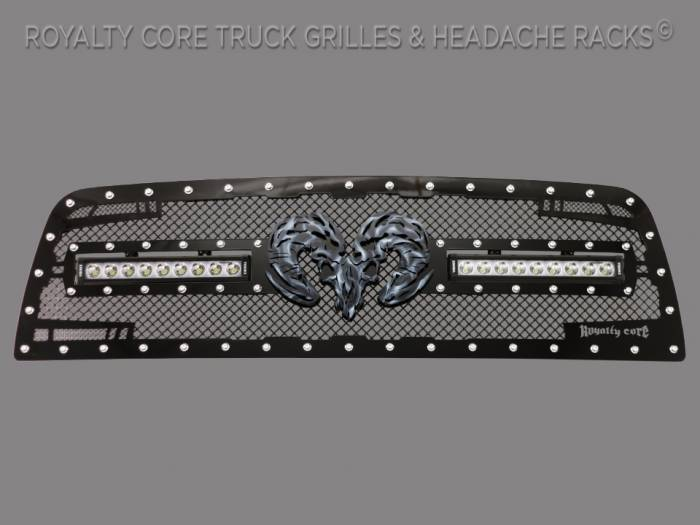 Royalty Core - Dodge Ram 1500 2013-2018 RC2X X-Treme Dual LED Grille With Ram Skull