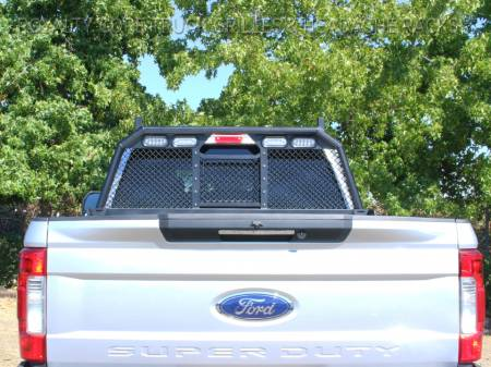 Royalty Core - Ford Superduty F-250 F-350 2017-2019 RC88 CAB Height Headache Rack w/ Integrated Taillights - Image 2