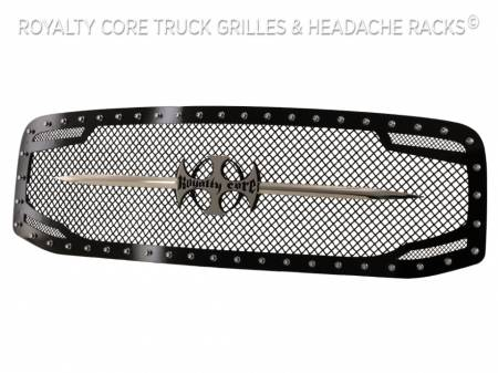 Royalty Core - Dodge Ram 1500 2006-2008 RC2 Main Grille Twin Mesh with Chrome Swords - Image 4