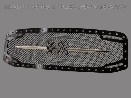 Royalty Core - Dodge Ram 1500 2006-2008 RC2 Main Grille Twin Mesh with Chrome Swords - Image 2