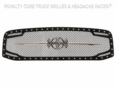 Royalty Core - Dodge Ram 1500 2006-2008 RC2 Main Grille Twin Mesh with Chrome Swords - Image 3
