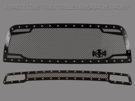 2500/3500/4500 - 2013-2018 2500, 3500, & 4500 Grilles - Royalty Core - Dodge Ram 2500/3500/ 2013-2018 RC2 Main Grille Twin Mesh & Bumper Grille Package