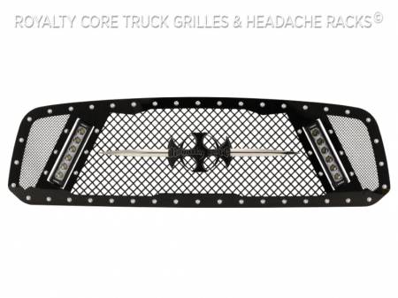 2500/3500 - 2013-2018 - Royalty Core - Dodge Ram 1500 2013-2018 RCX Explosive Dual LED Grille