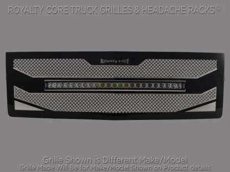 "2500/3500 - 2007-2010 - Royalty Core - Chevy 2500/3500 2007-2010 RC4X Layered 30"" Curved LED Grille"
