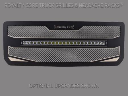 "2500/3500 Sierra - 2015-2019 2500 & 3500 Sierra Grilles - Royalty Core - GMC 2500/3500 HD 2015-19 RC4X Layered 30"" Curved LED Grille"