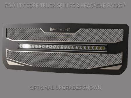 "Royalty Core - GMC 2500/3500 HD 2015-19 RC4X Layered 30"" Curved LED Grille - Image 3"
