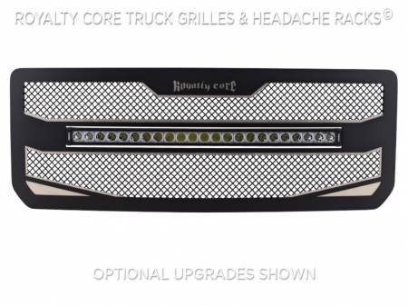 "Royalty Core - GMC 2500/3500 HD 2015-19 RC4X Layered 30"" Curved LED Grille - Image 4"