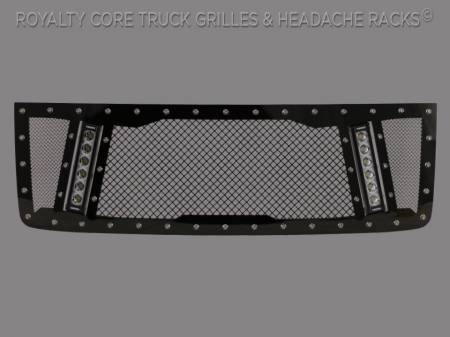 Grilles - RCX - Royalty Core - GMC Sierra HD 2500/3500 2011-2014 RCX Explosive Dual LED Grille