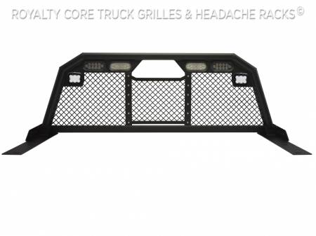 Royalty Core - Dodge Ram 1500 2002-2008 RC88 Ultra Billet Headache Rack w Integrated Taillights & Dura PODs - Image 2