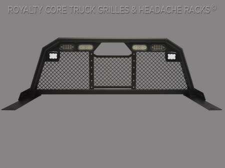 Royalty Core - Dodge Ram 2500/3500 2003-2009 RC88 Billet Headache Rack w/ Integrated Taillights & Dura PODs
