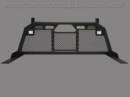 Headache Racks - RC88T With Dura - Meyer's - Dodge Ram 2500/3500/4500 2010-2019 RC88 Billet Headache Rack w/ Integrated Taillights & Dura PODs-Standard Height