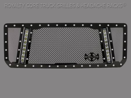 Royalty Core - GMC Sierra HD 2500/3500 2015-2019 RCX Explosive Dual LED Grille - Image 2