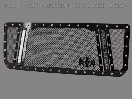 Royalty Core - GMC Sierra HD 2500/3500 2015-2019 RCX Explosive Dual LED Grille