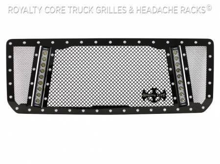Royalty Core - GMC Sierra HD 2500/3500 2015-2019 RCX Explosive Dual LED Grille - Image 4