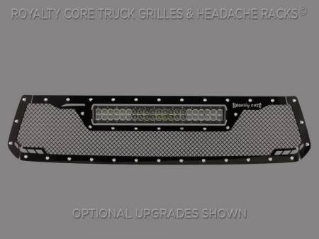 Tundra - 2014-2017 Tundra Grilles - Royalty Core - Toyota Tundra 2014-2017 RCRX LED Race Line Grille-Top Mount LED