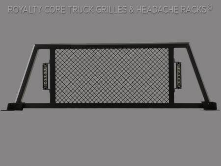 Headache Racks - RC88X - Royalty Core - Dodge Ram 2500/3500/4500 2010-2017 RC88X Billet Headache Rack w/ LED Light Bars