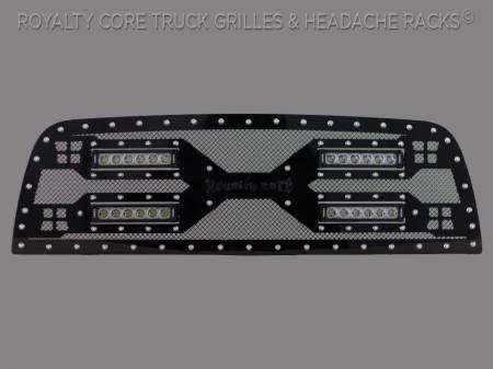 1500 - 2013-2018 1500 Grilles - Royalty Core - Royalty Core Ram 1500 2013-2018 RC5X Quadrant LED Grille