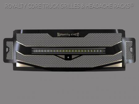 "Super Duty - 2017-2019 Super Duty Grilles - Meyer's - Ford Super Duty 2017-2019 RC4X Layered 30"" Curved LED Grille"