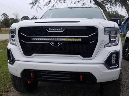 "Royalty Core - GMC Sierra & Denali 1500 2019+ RC4X Layered 30"" Curved LED Grille - Image 2"