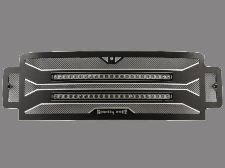 """Grilles - RC4X - Royalty Core - Ford Super Duty 2020+  RC4X Layered 30"""" Curved LED Grille"""