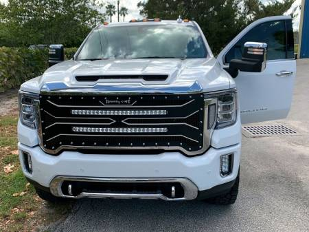 """Royalty Core - GMC 2500/3500 HD 2020-2022 RC4 DOUBLEX Layered with TWO 30"""" Curved LED Grille - Image 2"""