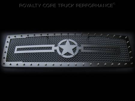 Royalty Core - GMC Sierra 2500/3500 2007-2010 RC1 Main Grille Flat Black with War Star Emblem