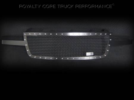 Grilles - RC1 - Royalty Core - Chevrolet 2500/3500 2005-2007 RC1 Full Grille Replacement Satin Black