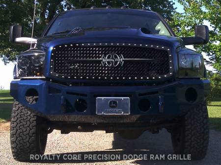Grilles - RC1 - Royalty Core - Dodge Ram 1500 2002-2005 RC1 Main Grille Gloss Black with Black Sword Assembly
