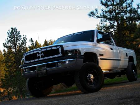 2500/3500/4500 - 1994-2002 - Royalty Core - Dodge Ram 2500/3500 1994-2002 RC1 Main Grille Gloss Black with Logo