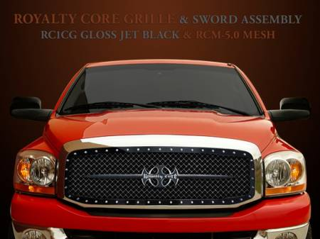 2500/3500/4500 - 2003-2005 2500, 3500, & 4500 Grilles - Royalty Core - Dodge Ram 2500/3500 2003-2005 RC1 Main Grille with Black Sword Assembly