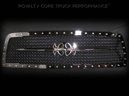 Grilles - RC1 - Royalty Core - Chevy 2500/3500 2007-2010 RC1 Full Grille Replacement with Sword Assembly
