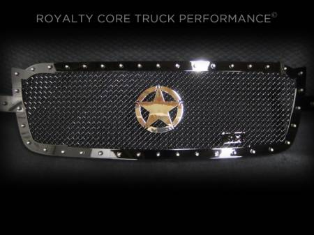 Grilles - RC1 - Royalty Core - Chevrolet 1500 2003-2005 RC1 Full Grille Replacement with War Star Emblem