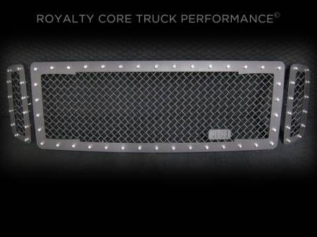 Excursion - 1999-2004 - Royalty Core - Ford SuperDuty 1999-2004 RC1 Main Grille 3 Piece Satin Black