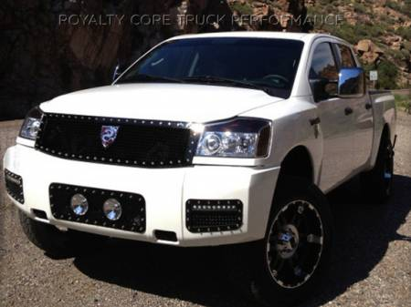 Grilles - Bumper Grilles - Royalty Core - Nissan Titan 2004-2015 Bumper Grille with Fog Lights